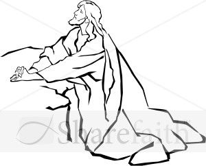 Jesus In The Garden Of Gethsemane In Black And White White Jesus