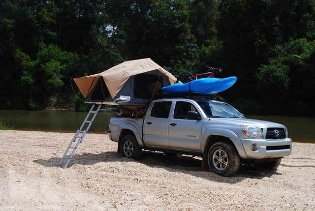 Toyota Hilux Tent Camping Kayak Roofrack Canoe Frontrunner Accessories Visit Http Www Frontrunner Co Za To F Adventure Gear Roof Rack Overlanding