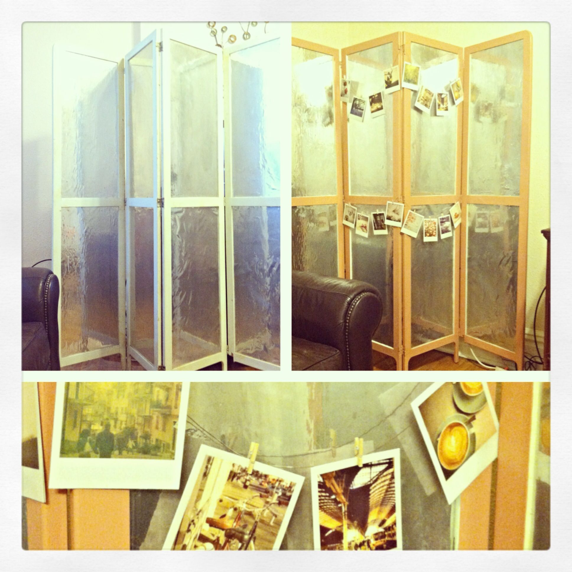 DIY Found this old hospital room divider at an antique shop. Painted ...