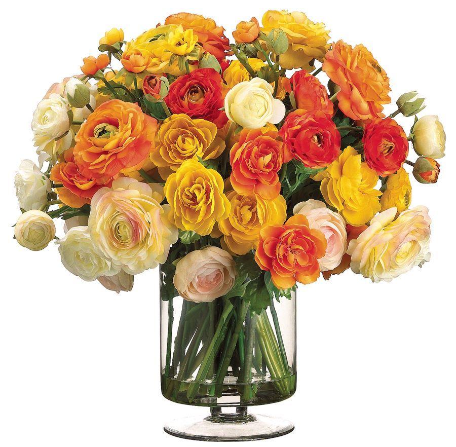 fake flower bouquet in vase