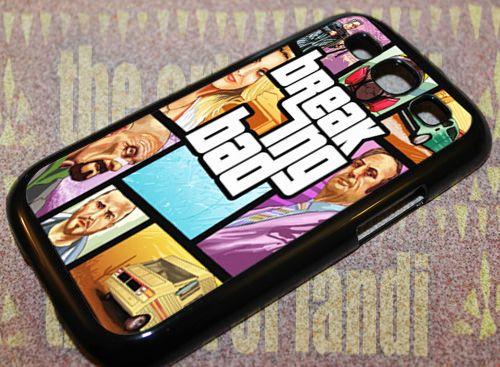 Breaking Bad Gta For Samsung Galaxy S3 Black Rubber Case
