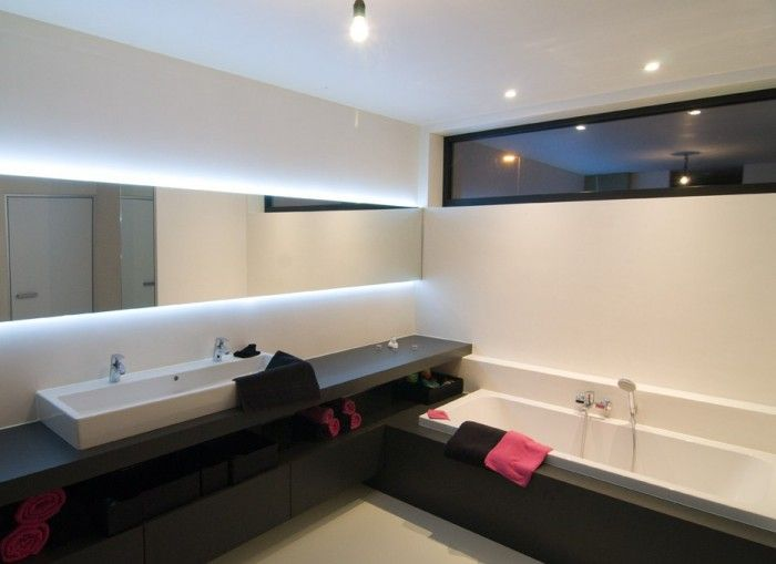 badkamer plank wastafel ligbad - Google zoeken   Ideeën badkamer ...