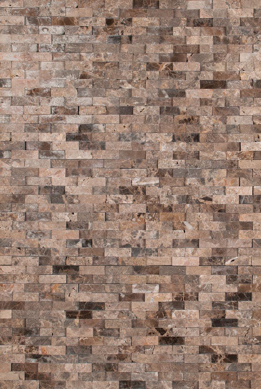 Fireplace emperador splitface interlocking pattern for the home fireplace emperador splitface interlocking pattern backsplash tilewall dailygadgetfo Images