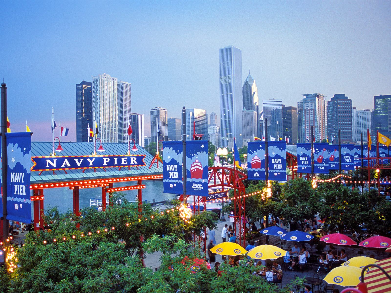 High Resolution Buildings City Desktop Wallpaper Of Navy Pier Chicago Illinois ID