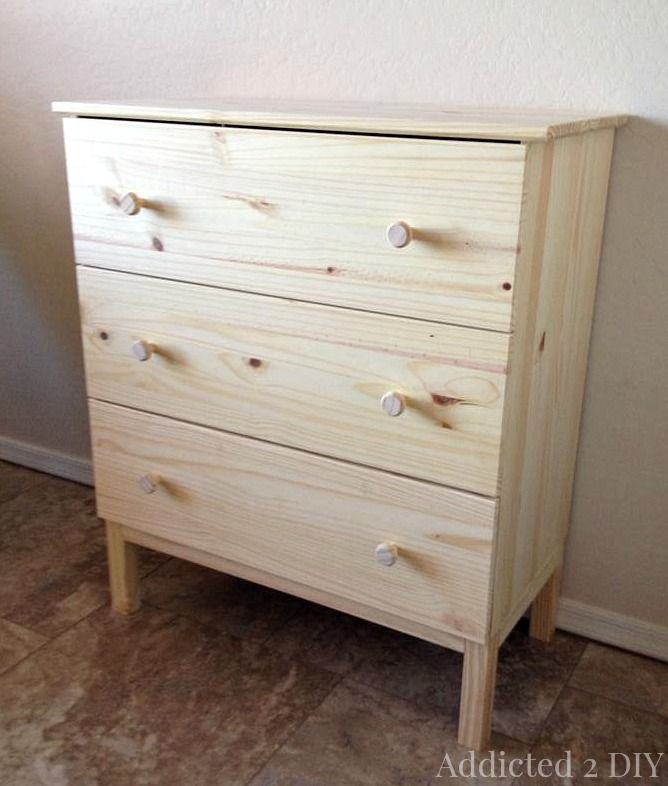 Ikea Tarva Hack 3 Drawer Chest To Bar Cabinet Craft Ideas