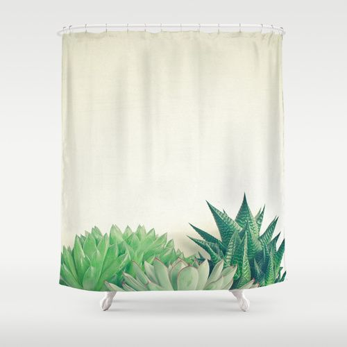 Succulent Forest Shower Curtain Curtains Painting Shower Buy