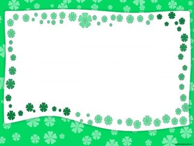 Green Garden Border Frame PPT Backgrounds | Border and ...