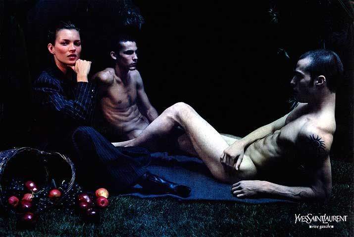 YSL shot by Mario Sorrenti -  inspired by Manet