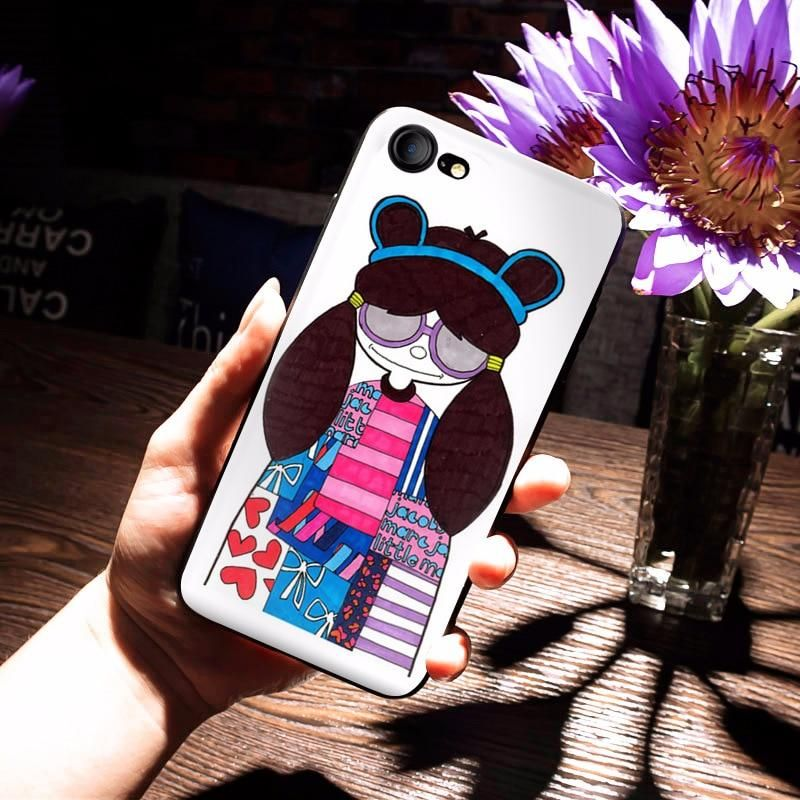 MaiYaCa Marc by Marc Jacobs Miss Marc lovely girl Popular Phone case for iPhone  8 7 be8231992d79