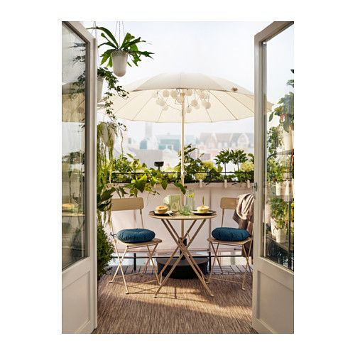 Saltholmen table ext rieur pliable beige balcon - Ikea table balcon ...