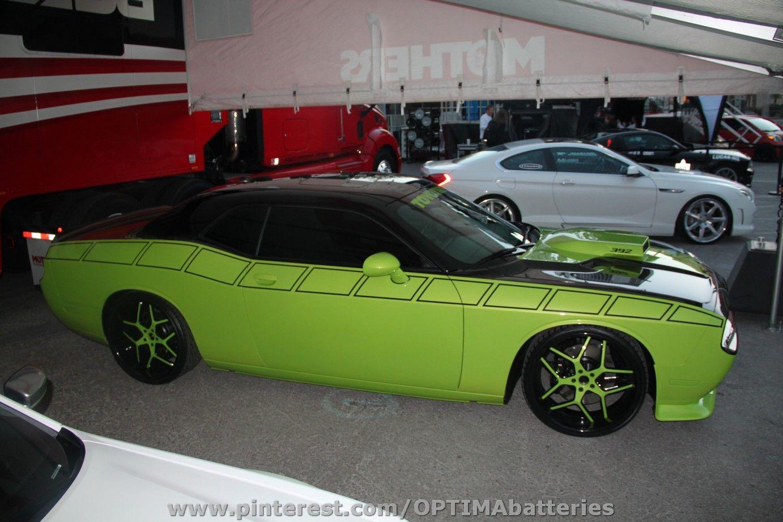 #Dodge #Challenger #SEMA 2012 #green #Mopar