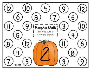 Pumpkin Math Addition Games | Math addition, Math and Math education