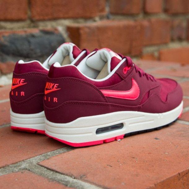 Burgundy nike sneakers   Nike   Pinterest   Sneakers women