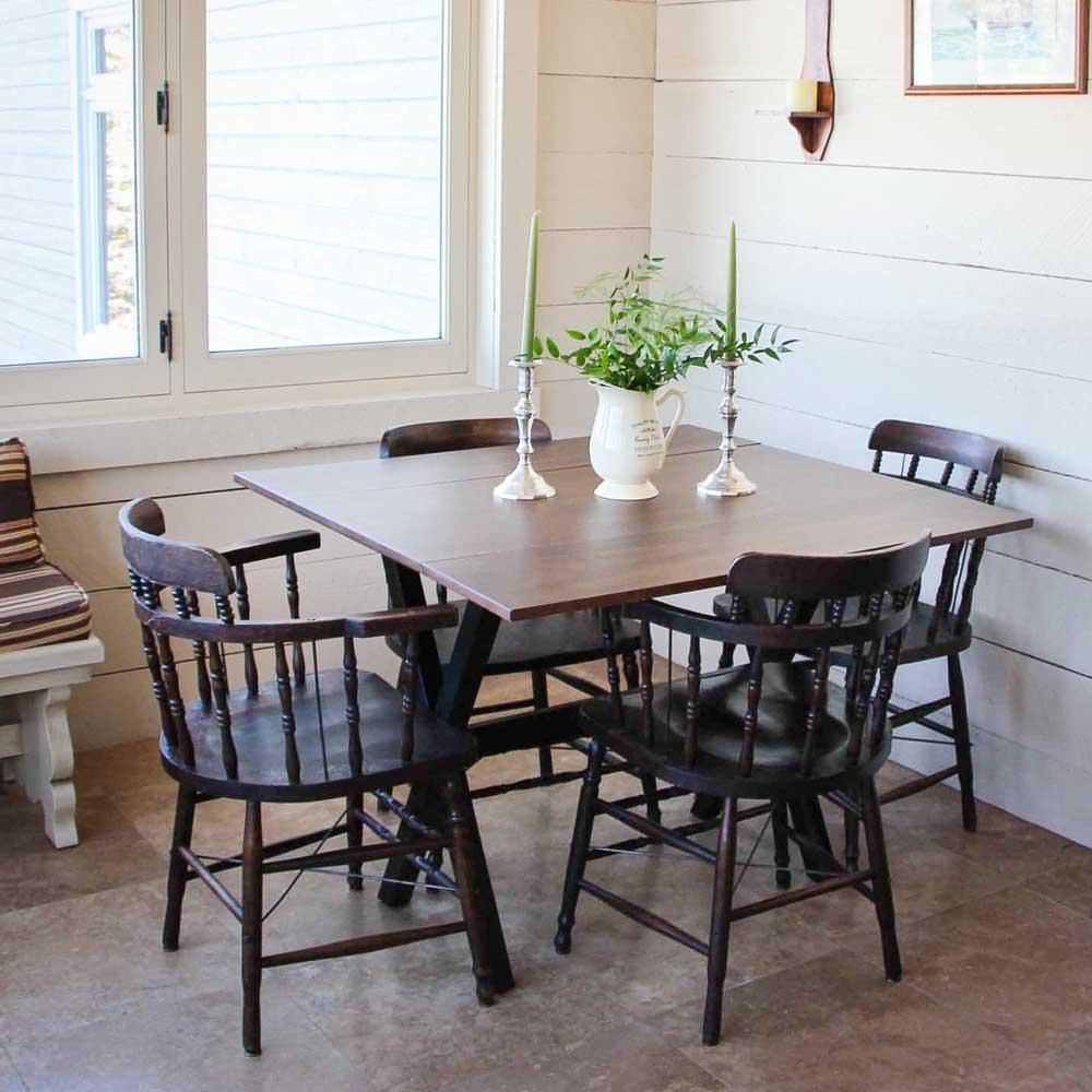 Kalos Cocoa Brown With Black Base Extendable Dining Table In 2019