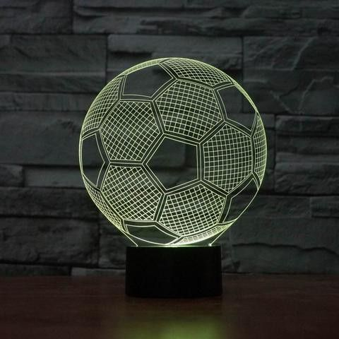 Soccer 3d Illusion Lamp 3d Led Lamp Led Night Light 3d Illusion Lamp