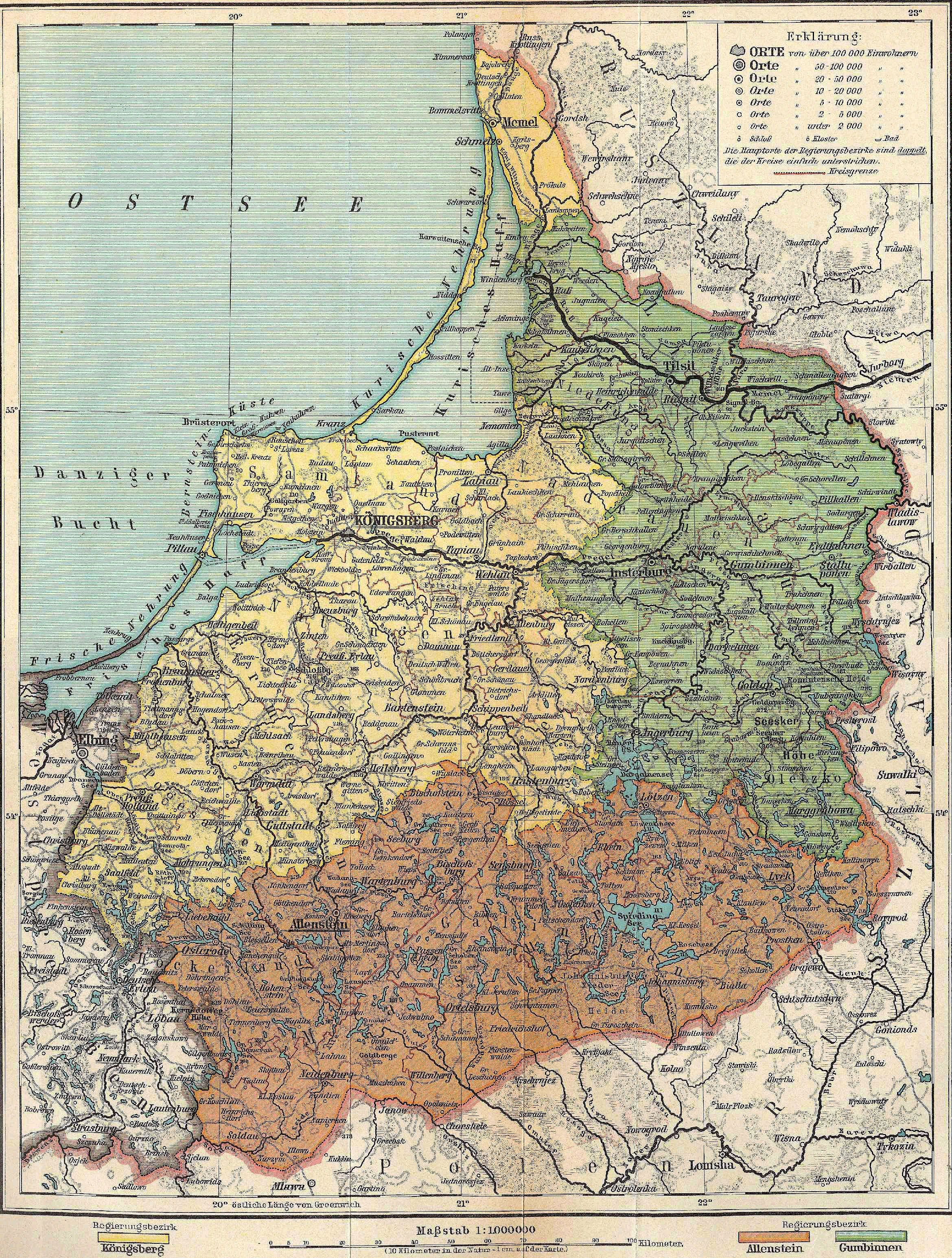 Karte Ostpreußen.Ostpreußen 1917 Karten Pläne Ostpreußen Karte Preußen Und