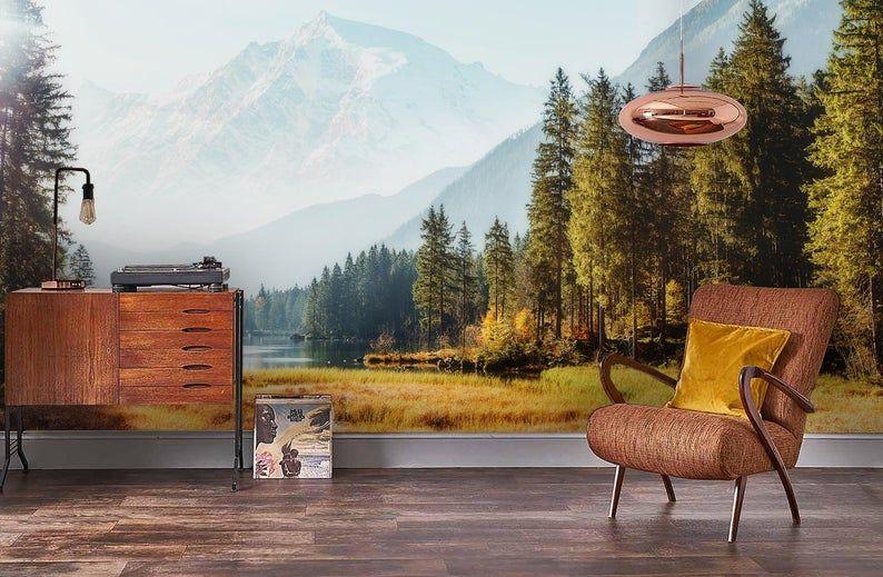 3d Spectacular Autumn Scenery Wallpaper Removable Self Etsy Scenery Wallpaper Autumn Scenery Wallpaper