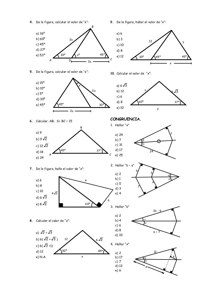 Ejercicios de Geometría | Clase de matemáticas | Pinterest ...