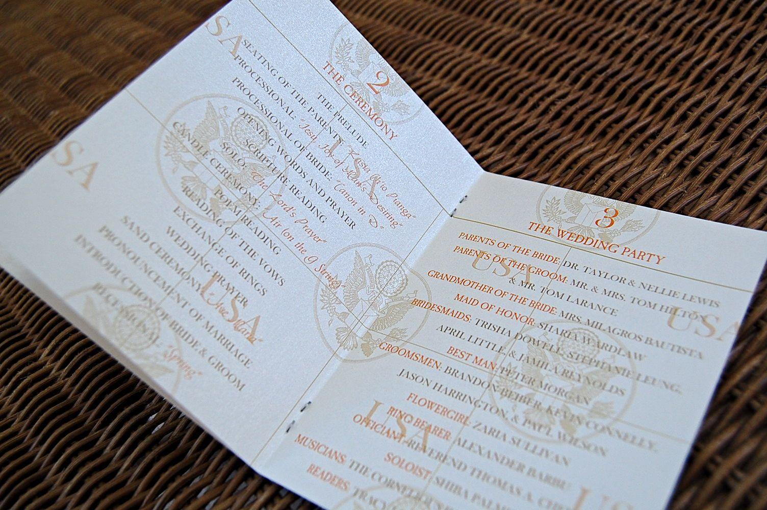 Travel Themed Wedding   Vintage Airmail Invitations & Passport ...
