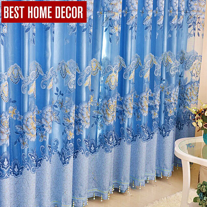 Best Home Decor Floral Drapes Window Blackout Curtains For Living Room The  Bedroom Modern Tulle Curtains