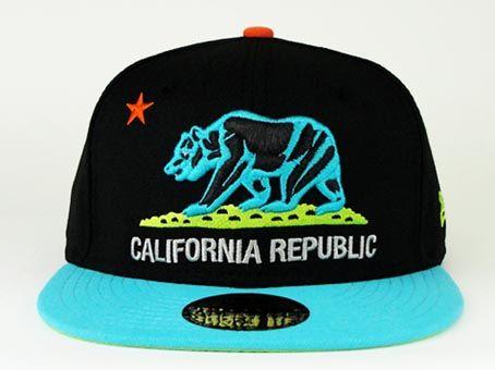 California Republic snapback hats  55c95e8ecea
