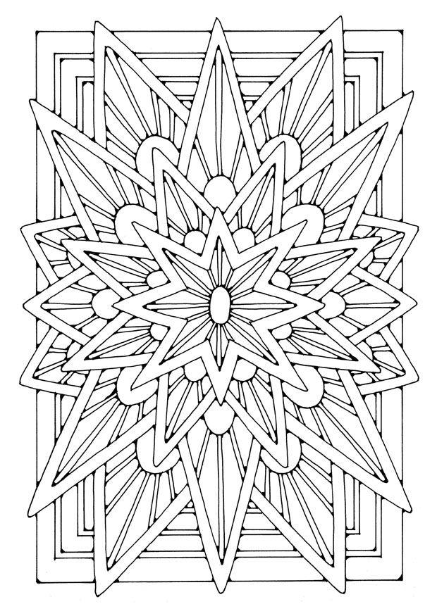 Mandala Star 21906 Okul Oncesi Etkinlik Boyama Sayfalari Mandala Mandala Boyama Sayfalari