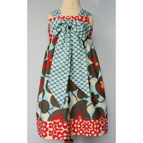 Reverse Knot Dress Pattern Size 5 - 10 by Kissing Kumquats
