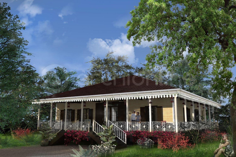 Maison lafayette une maison bois con ue par l 39 architecte for Maison coloniale en bois