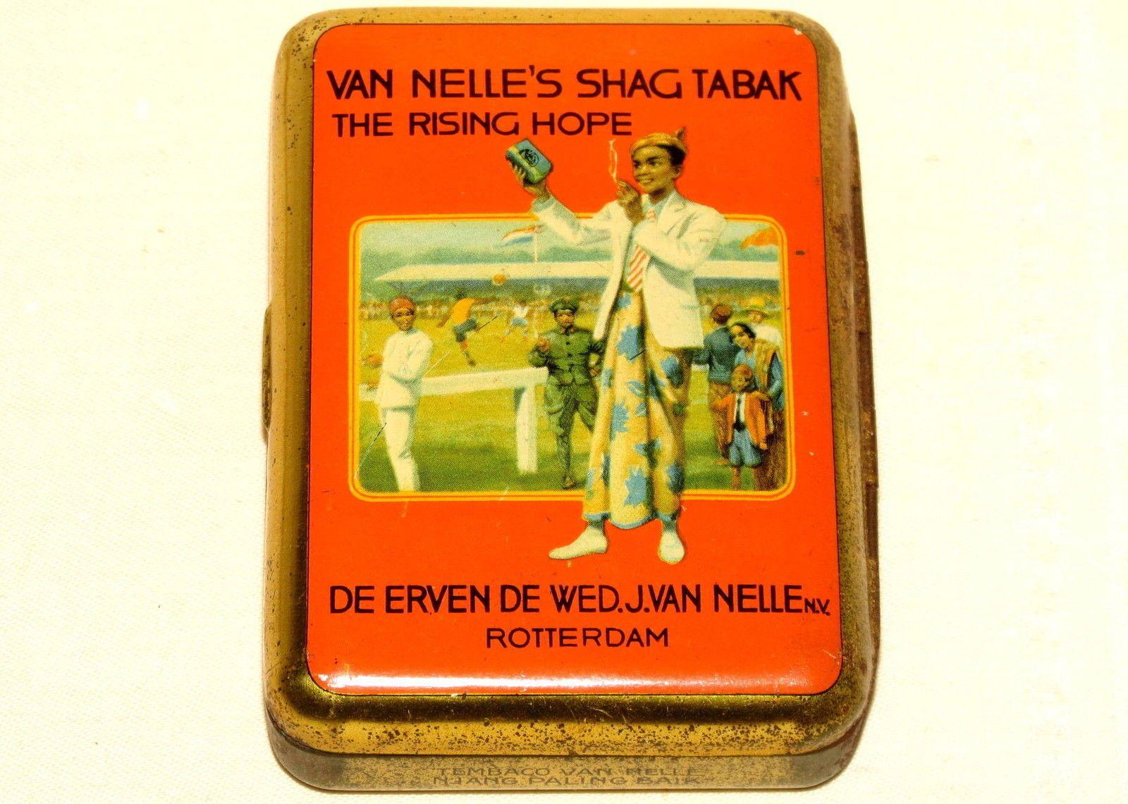 Van Nelle Rising Hope Fussball Sports Indonesia Tobacco Tin 1920   eBay