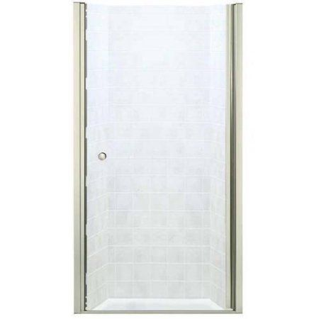 Sterling 6305-39DR-G05 Finesse 37.5 inch-39 inchW x 65.5 inchH Frameless Hinged Shower Door, Available in Various Colors, Silver