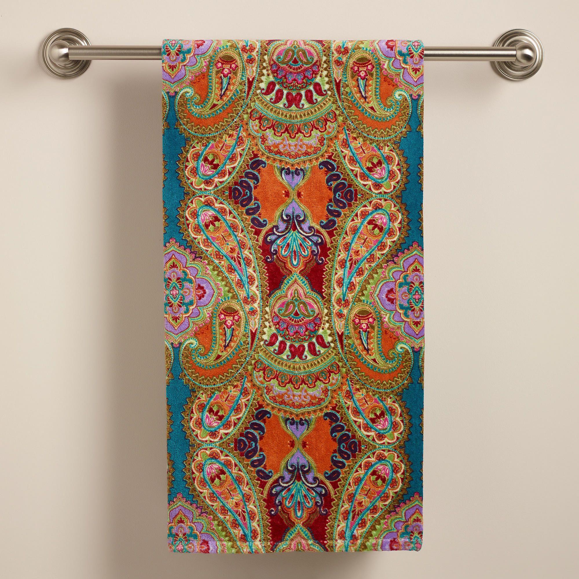 Venice Printed Bath Towel World Market For Our Bathroom