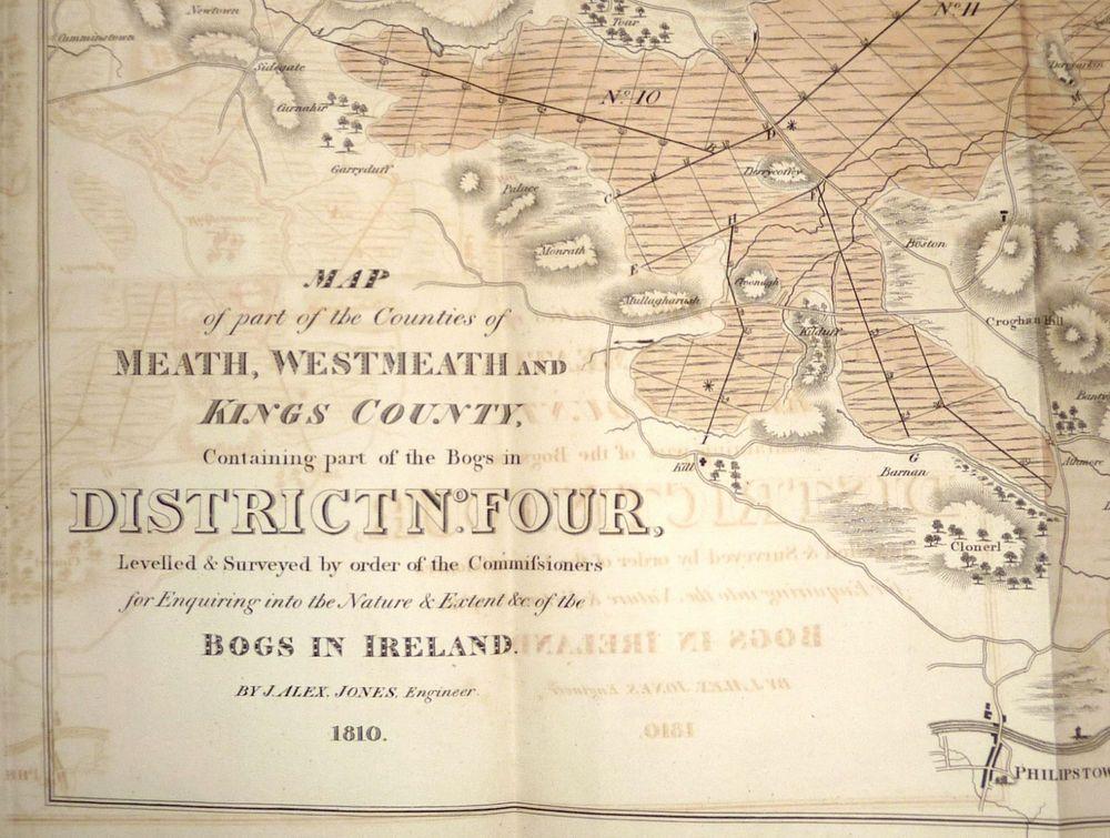 Bogs Of Ireland 1811 Ten Big Folding Maps Rare Commissioners Report Ebay Map Bogs Ireland