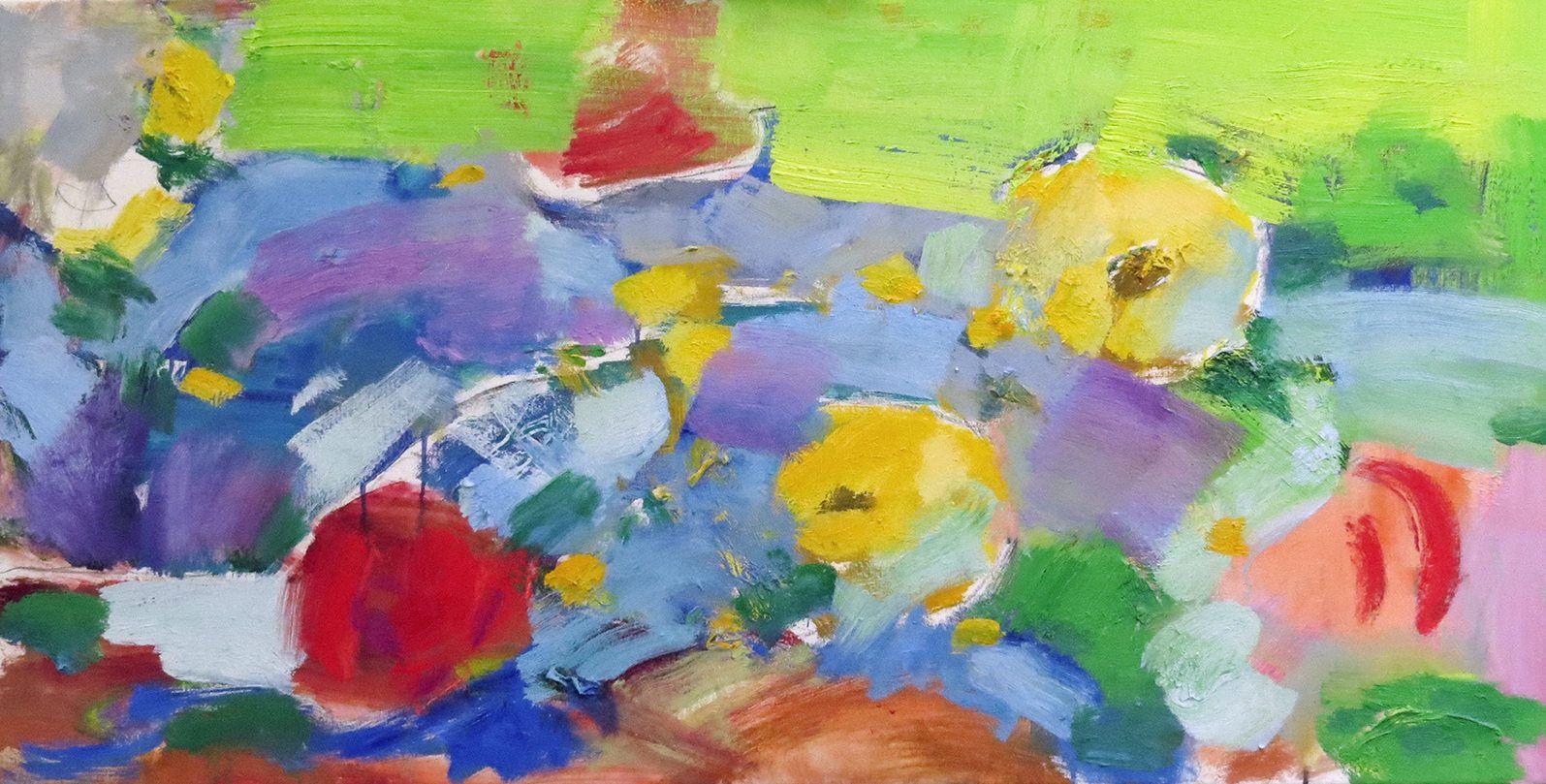 068-garden-images-20x40-oil by John Sirois