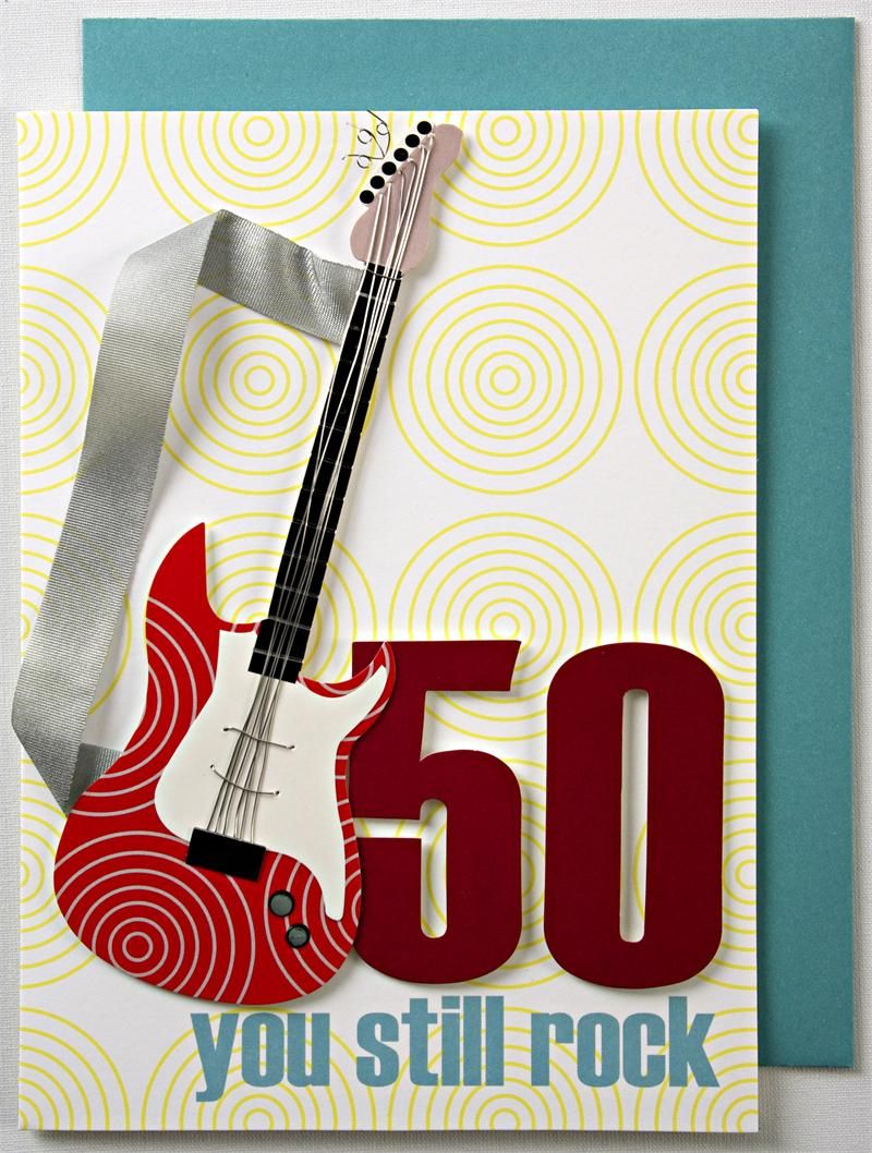 50th Birthday Card with Rock Theme MonsterMarketplacecom Cards
