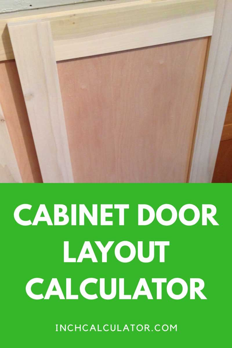 Raised Panel Cabinet Door Calculator