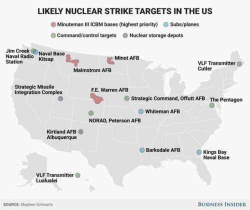 Likely nuclear strike targets in the us maps pinterest likely nuclear strike targets in the us publicscrutiny Choice Image