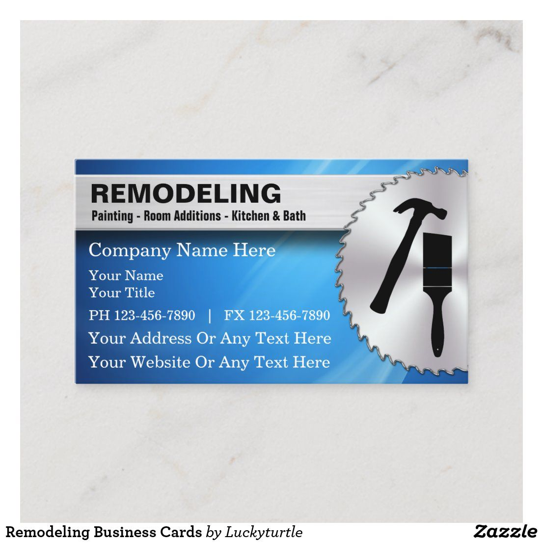 Remodeling Business Cards Zazzle Com Remodeling Business Construction Business Cards Remodel