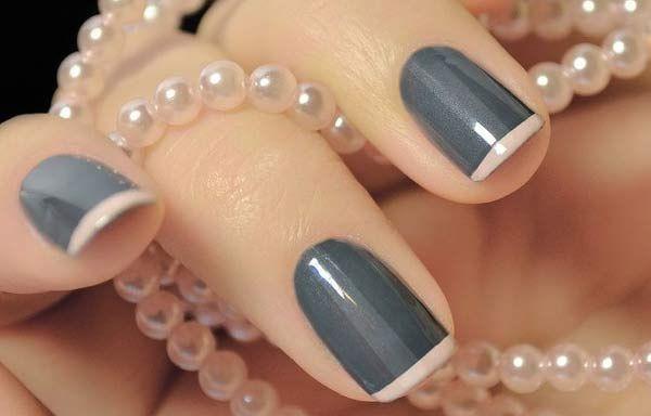 Uñas Decoradas Color Gris Uñas Decoradas Nails Bridal Nails Y