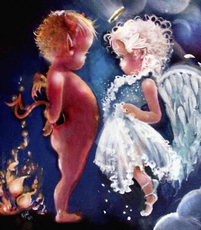 Картинки смешной ангел