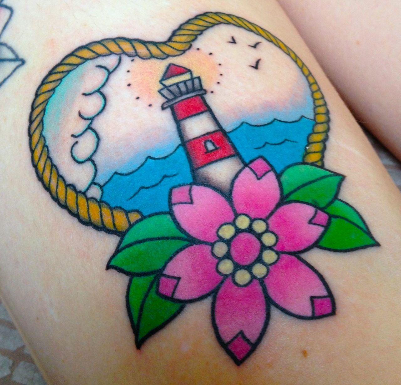 b68dd7b3f4051 Cute lighthouse | Feminine Tattoos | Traditional tattoo, Soul tattoo ...