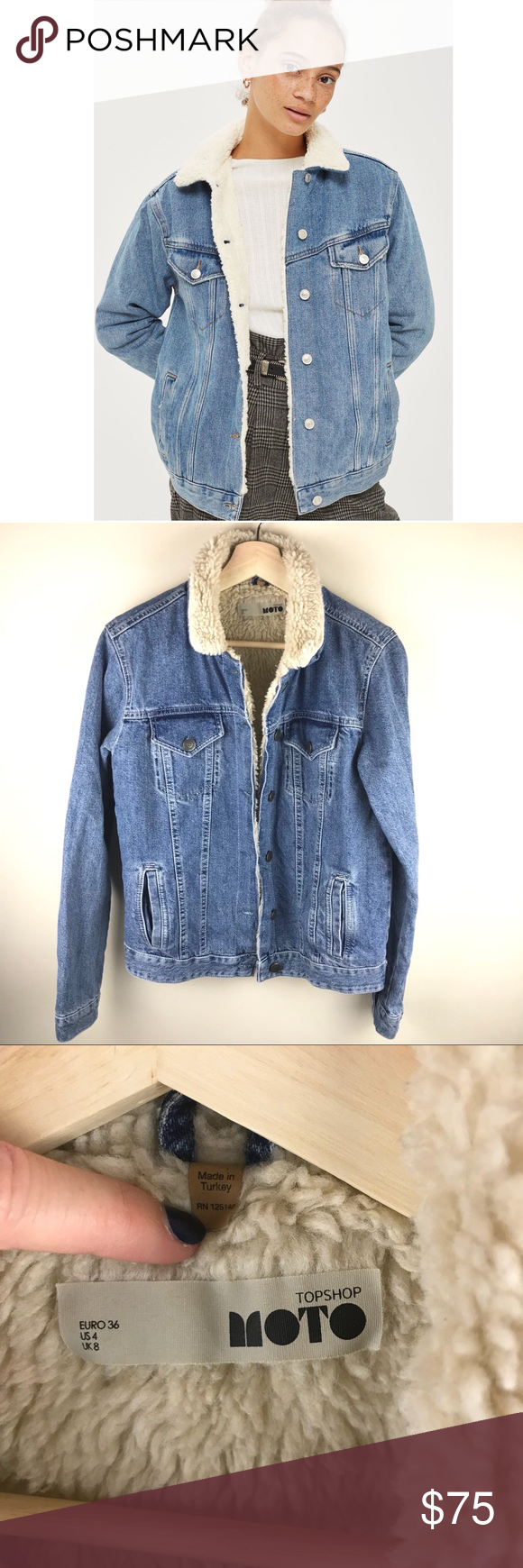 Top shop Vintage Moto Sherpa Jacket 4 Clothes