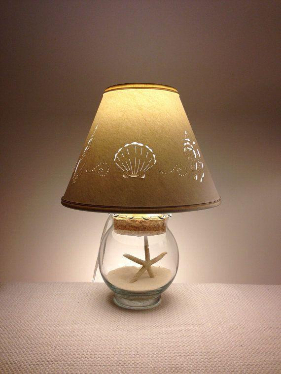 Small Fillable Seashell Lamp Small Lamp Fillable Lamp Seashell Lamp Add Your Own Seashells Small Lamp Shade Fillable Glass Paper Lamp Shade Seashells Lamp Fillable Lamp Small Lamp Shades