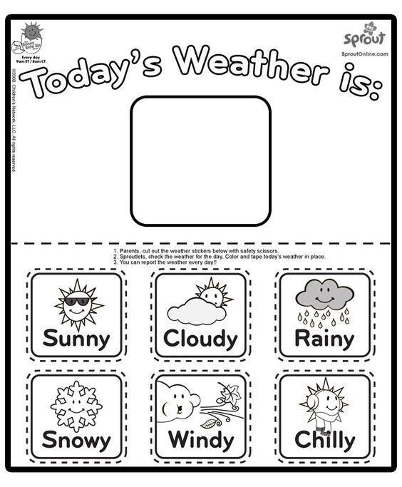 Weather Coloring Tracker Teaching Weather Preschool Weather Weather Worksheets