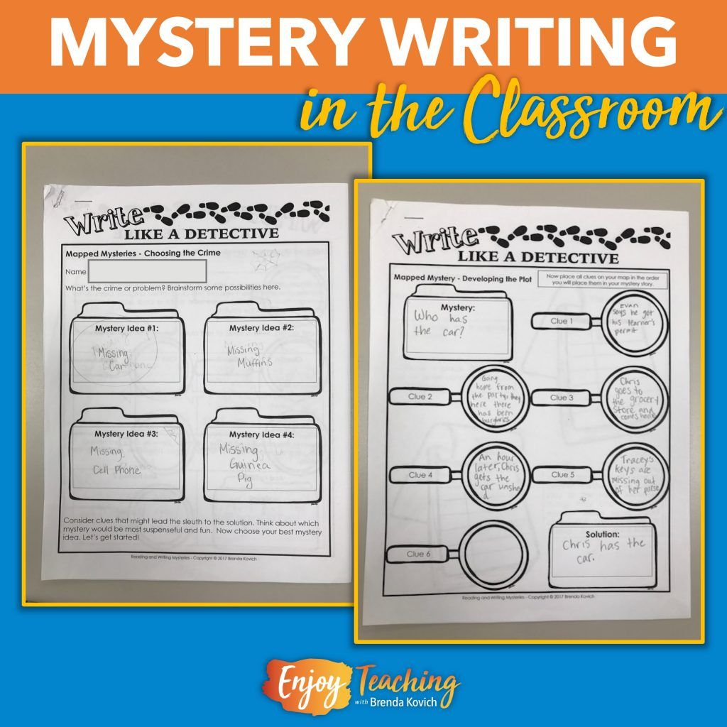 Mystery Writing For Kids Narratives Paper Bag Stories