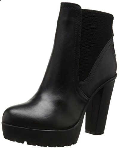 Steve Madden Women's Amandaa Boot, Black Leather, 6 M US. Read more about the product on the website.