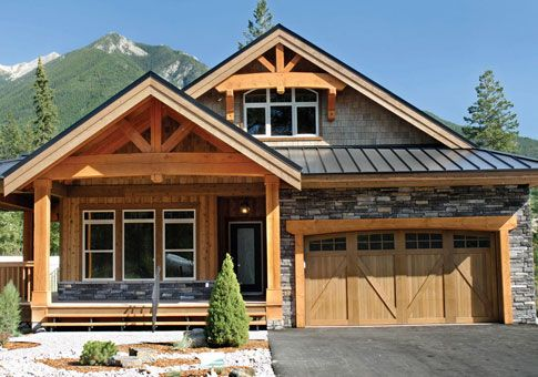 Post And Beam Homes Cedar Homes Post And Beam Homes Custom Homes Cedar Homes Home Styles Exterior Craftsman House Plans