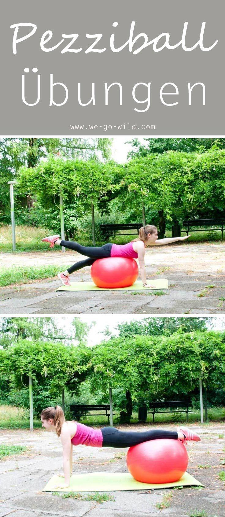 Die 13 besten Übungen mit Gymnastikball für zu Hause #corepilates