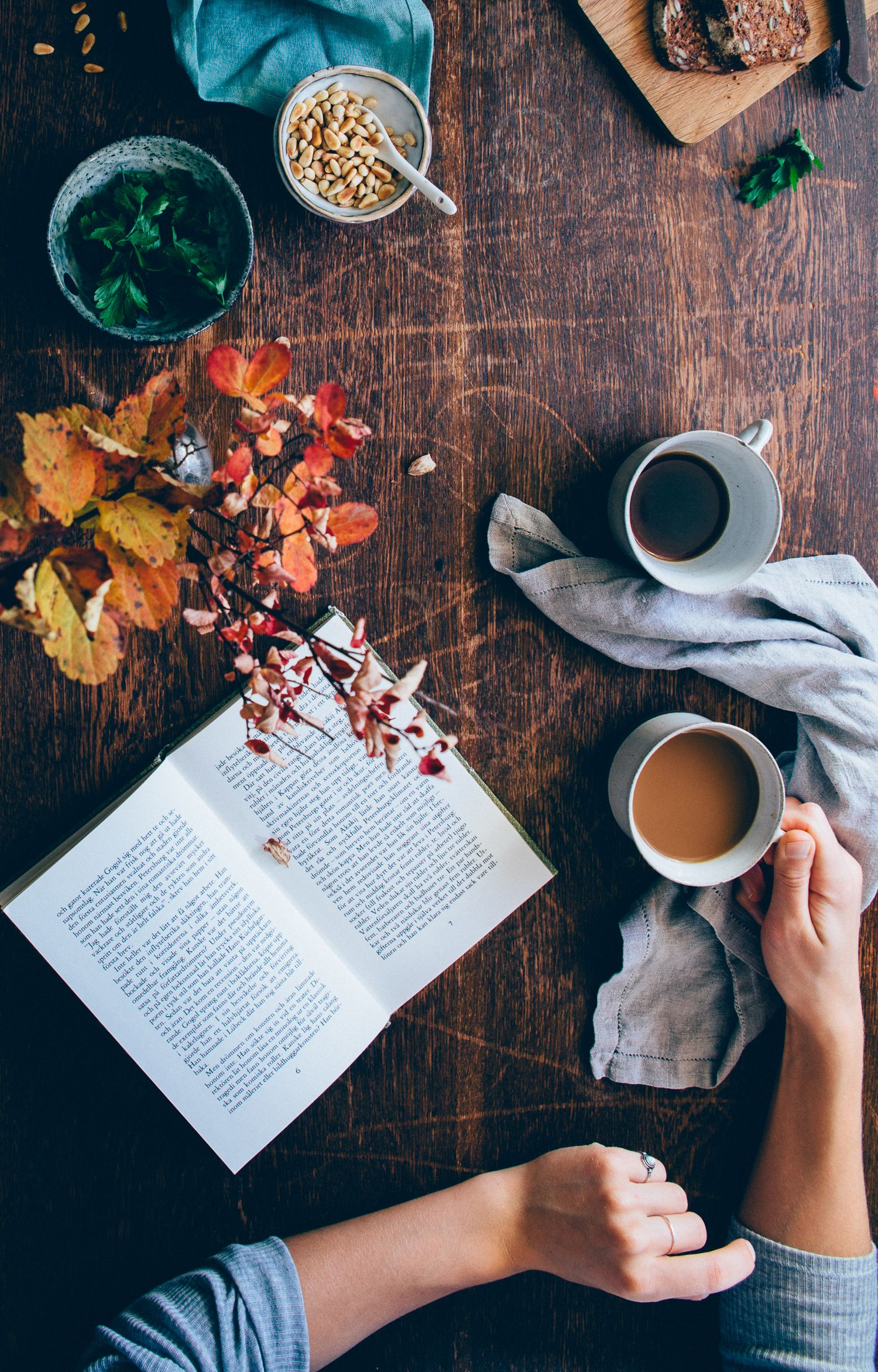 Image result for tea and coffee and a book