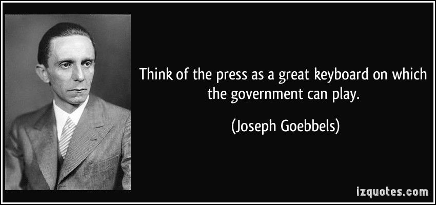 Image result for joseph goebbels and the press