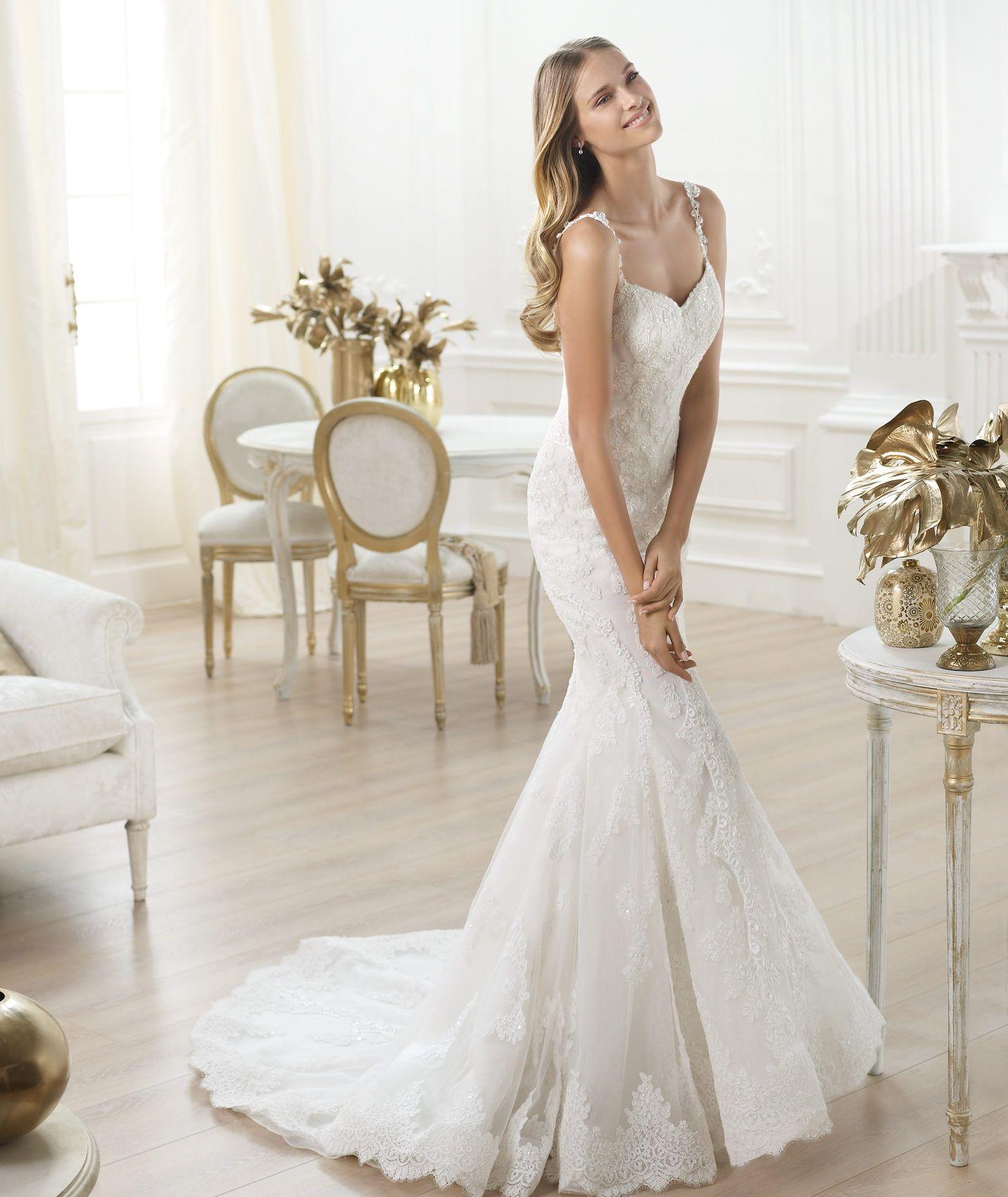 Pronovias präsentiert Ihnen das Modell Levan. Fashion 2014. | Pronovias